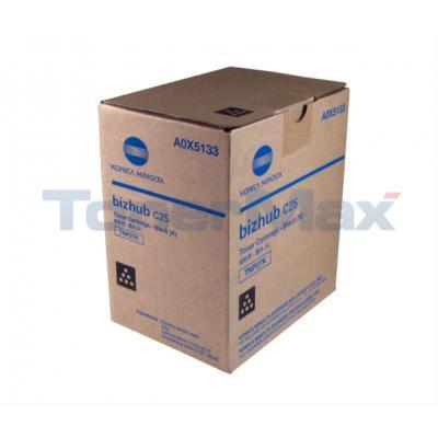 KONICA MINOLTA BIZHUB C25 TONER CARTRIDGE BLACK